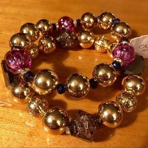 Catherine's Glass Beaded Stretch Bracelet